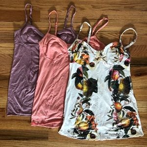 Lot of 3 Aritzia Wilfred bustier tank tops S/M